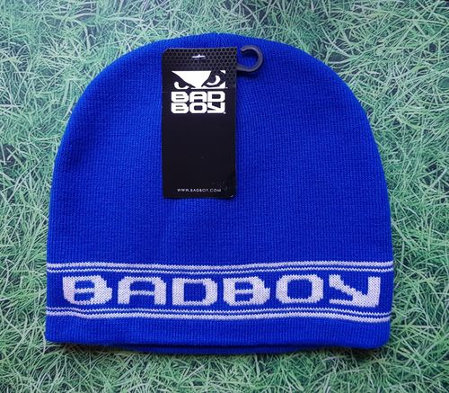 (hat116) Brand New Blue bad boy beanie hat BNWT